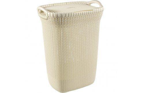 Curver Koš na špinavé prádlo KNIT 57L (03676- X64), béžový Koše na prádlo