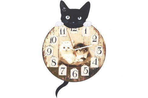 Nástěnné hodiny s kočkou Hodiny