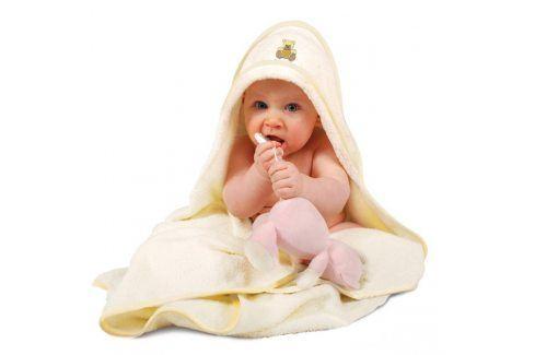 Dětská osuška Maxi s kapucí 100x100 cm bílá Pro miminka