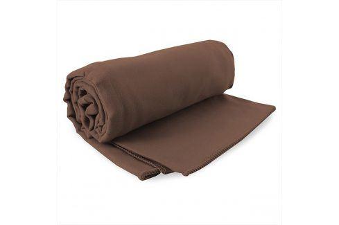 Rychleschnoucí ručník Ekea hnědý 60x120 cm hnědá Plážové doplňky