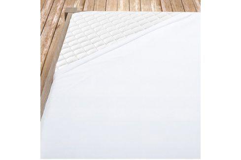 Bílé bambusové jersey prostěradlo Jednolůžko Bambus - jersey Bambusová prostěradla