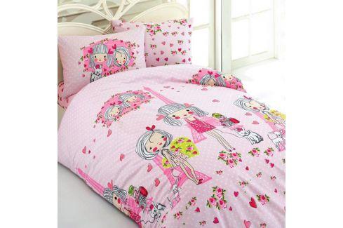 Dětské povlečení Love 140x200 jednolůžko - standard bavlna Ložní povlečení