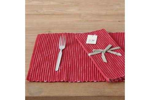 Prstírání Home design červené 30 x 45 cm červená Utěrky