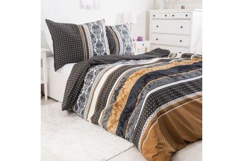 Krepové povlečení Vincenza 140x200 jednolůžko - standard bavlna Geometrické vzory