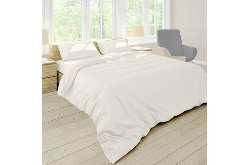 Povlečení Pastel Ecru 140x220 jednolůžko - prodloužené bavlna Jednobarevné povlečení