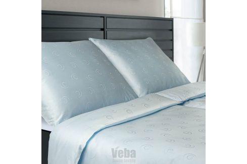 Povlečení Tencel Snail modré 140x200 jednolůžko - standard bavlna Luxusní povlečení