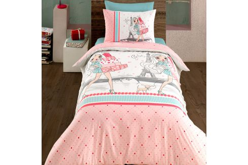 Povlečení Shopping 140x200 jednolůžko - standard bavlna Geometrické vzory