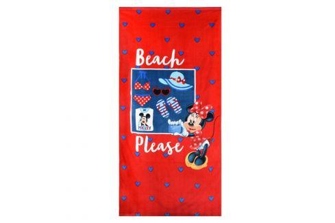 Dívčí plážová osuška Minnie 70x140 cm froté Dětské osušky a ručníky