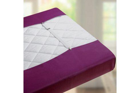 Spojka na prostěradlo 40x2,5  cm bílá Jersey prostěradla
