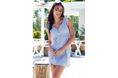 Dámské letní domácí šaty Maglia Magic modrobílé  modrobílá Akce týdne