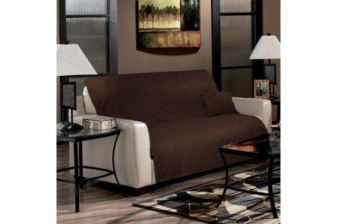 Přehoz na sedačku hnědý 170x210 cm polyester Přehozy na sedačky