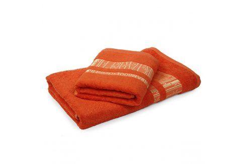 Bambusový ručník Jambi oranžový 50x90 cm Ručník Osušky