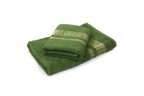 Bambusový ručník Jambi tmavě zelený 50x90 cm Ručník Osušky