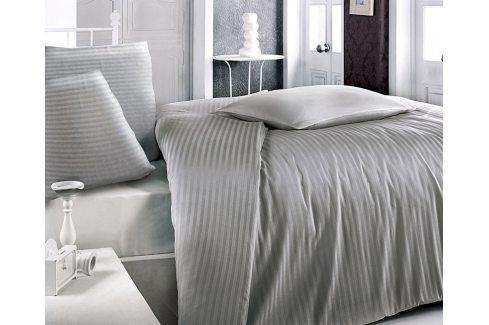 Atlasové povlečení šedé 140x200 jednolůžko - standard Bavlněný satén Luxusní povlečení