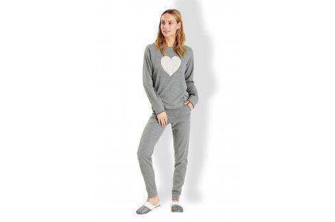 Dámské italské pyžamo Love  šedá Akce týdne