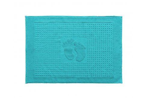 Koupelnová předložka Stopa tyrkysová 50x70 cm bavlna Předložky
