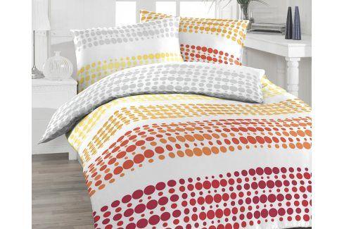 Povlečení Felix oranžové 140x200 jednolůžko - standard bavlna Geometrické vzory