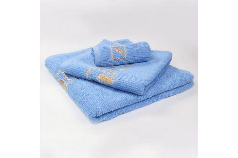 Ručník Grácie - modrý 30x50 cm Ručník malý Ručníky