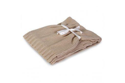 Pletená dětská deka Tully béžová dětská deka ecru Akce týdne