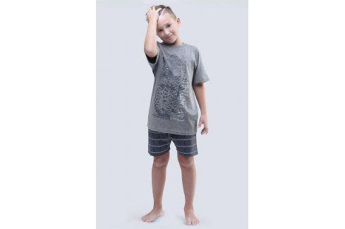 Chlapecké pyžamo Live Untamed šedé  šedá Dětská pyžama