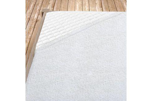 Bílé bambusové prostěradlo Jednolůžko Bambus - froté Bambusová prostěradla