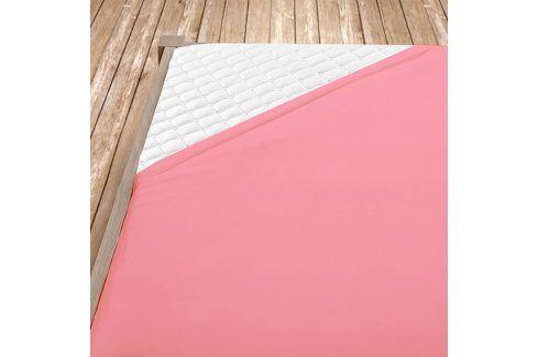 Napínací jersey prostěradlo růžové Jednolůžko Bavlna - jersey Jersey prostěradla