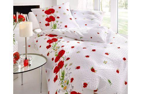 Krepové povlečení Red Poppy 140x200 jednolůžko - standard Krep Květinové vzory