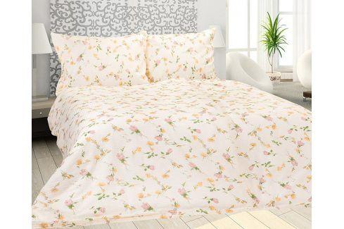 Krepové povlečení Anna 140x200 jednolůžko - standard Krep Květinové vzory