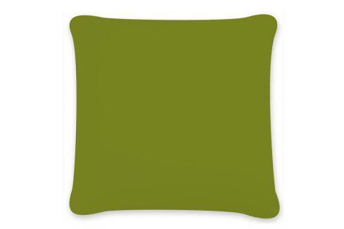 Povlak na polštářek Uni zelený 40x40 cm Bavlněný satén Povlaky na polštáře