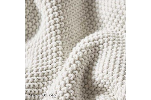Pletený pléd Marc O´Polo Nordic Of White 130x170 cm ecru Přehozy