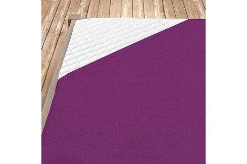 Napínací froté prostěradlo tmavě fialové Jednolůžko Bavlna - froté Froté prostěradla