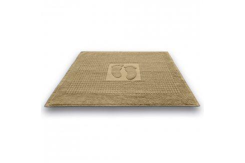 Koupelnová předložka Stopa béžová 50x70 cm bavlna Předložky