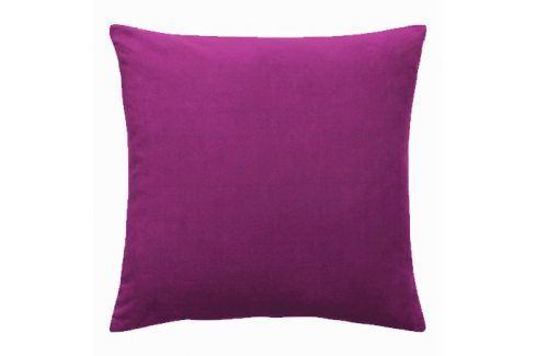 Povlak na polštářek Uni fialový 40x40 cm Bavlněný satén Povlaky na polštáře