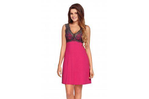 Luxusní košilka Larisa  růžová Luxusní košilky