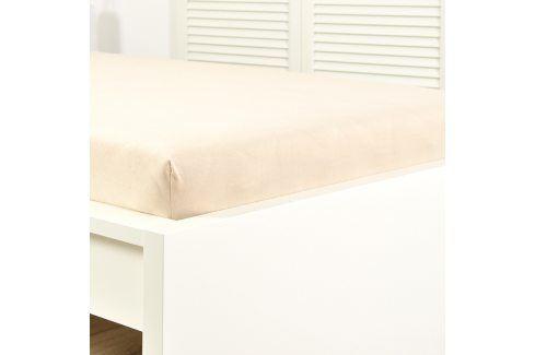 Napínací prostěradlo jersey krémové 60x120 cm dětská postýlka Bavlna - jersey Jersey prostěradla