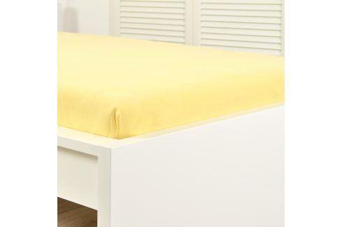 Napínací prostěradlo jersey žluté 60x120 cm dětská postýlka Bavlna - jersey Jersey prostěradla