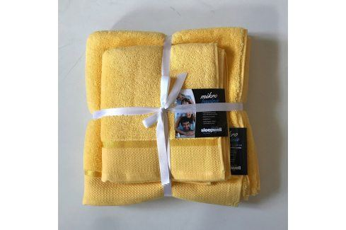 Dárková sada ručníků mikrobavlna žlutá Set Dvoudílný set Tipy na dárky