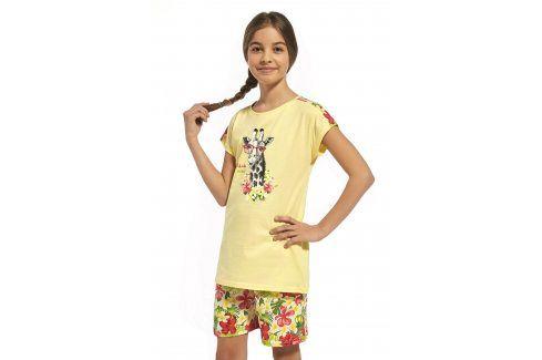 Dívčí bavlněné pyžamo Aloha  žlutá Dětská pyžama