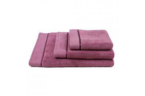 Ručník mikrobavlna fialový 50x100 cm Ručník Bavlněné ručníky a osušky