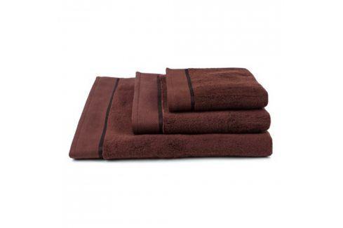 Ručník mikrobavlna tmavě hnědý 50x100 cm Ručník Bavlněné ručníky a osušky