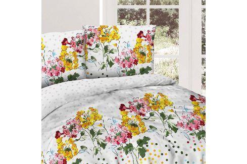 Povlečení Flower garden 140x200 jednolůžko - standard bavlna Květinové vzory