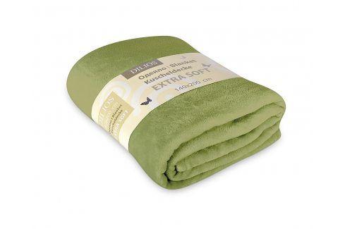 Deka Extra Soft zelená 140x200 cm zelená Deky
