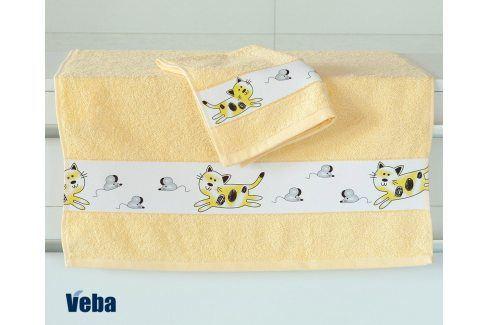Dětský ručník Nora Myši světle žlutý 50x100 cm bavlna Pro miminka