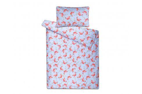 Dětské povlečení v taštičce Plameňáci Dětská postýlka bavlna Pro miminka
