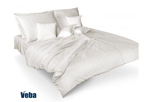Povlečení Tencel větvičky bílé 140x200 jednolůžko - standard bavlna Jednobarevné povlečení