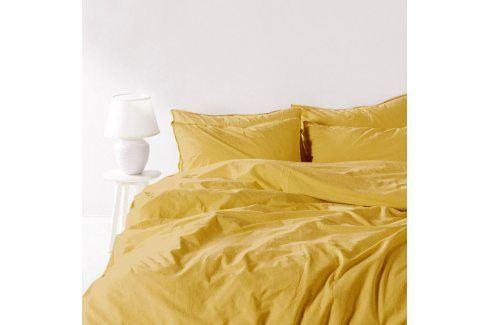 Povlečení Stonewash žluté 140x200 jednolůžko - standard bavlna Luxusní povlečení