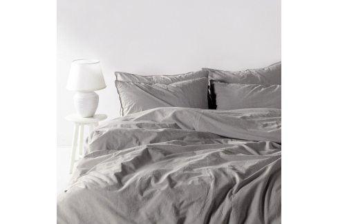 Povlečení Stonewash světle šedé 140x200 jednolůžko - standard bavlna Luxusní povlečení