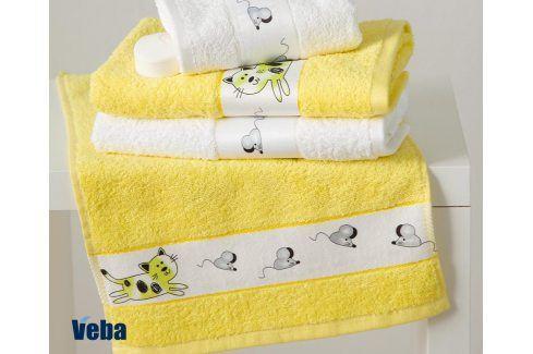 Dětský ručník Rujana Myši žlutý 30x50 cm bavlna Pro miminka