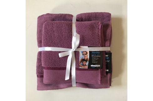 Dárková sada ručníků mikrobavlna fialová Set Dvoudílný set Tipy na dárky
