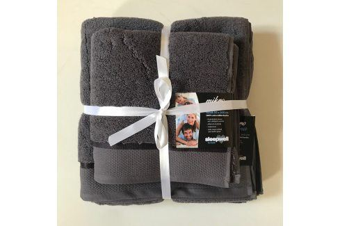 Dárková sada ručníků mikrobavlna antracitová Set: 1 ks 50x100 cm a 1 ks 70x140 cm Dvoudílný set Tipy na dárky